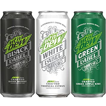 amazon com mountain dew label variety pack black label white