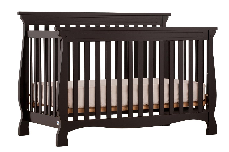 Amazon.com : Stork Craft Carrara 4 In 1 Fixed Side Convertible Crib, Black  : Baby