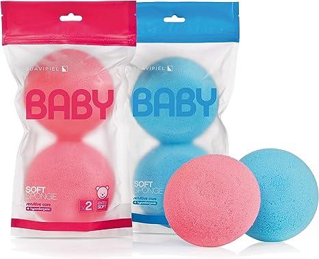 Esponja Soft para bebés. Caja 20 esponjas en packs de 2 uds. Esponjas especiales para el cuidado de la piel sensible del bebé en cada baño: Amazon.es: Bebé