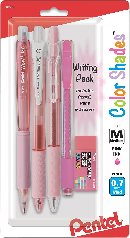 Pentel Color Shades Writing Pack - Pastel Pink (BLBKALZBPP)