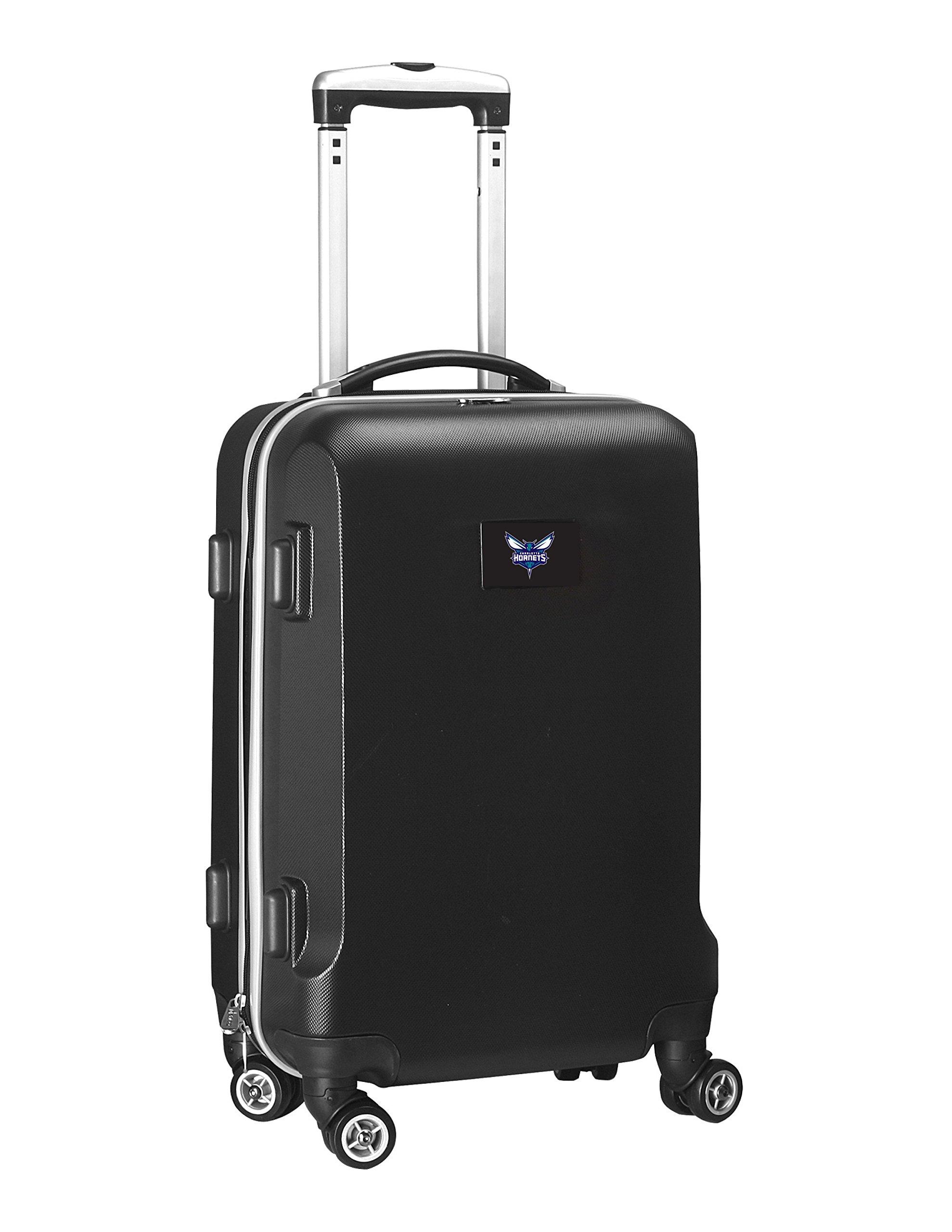 Denco NBA Charlotte Hornets Carry-On Hardcase Luggage Spinner, Black