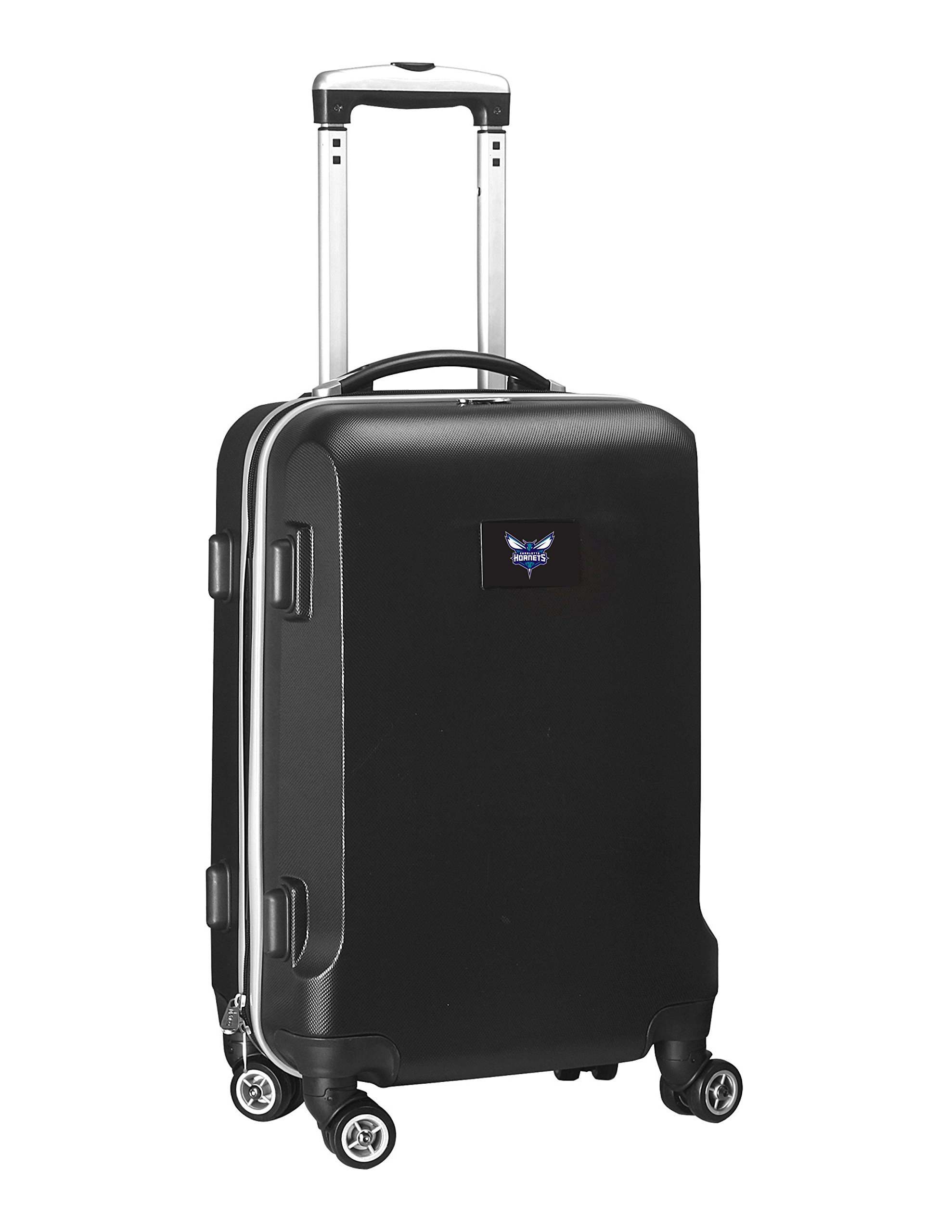 Denco NBA Charlotte Hornets Carry-On Hardcase Luggage Spinner, Black by Denco (Image #1)