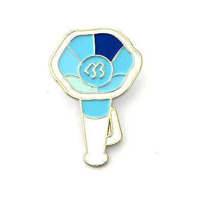 Amazon Com Kpop Light Stick Metal Badge Pin Btob Clothing