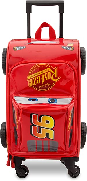 Disney Lightning McQueen Rolling Luggage - Cars 3 Red