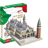Puzzle 107 pièces - Puzzle 3D - Place Saint-Marc (Difficulté: 5/8)
