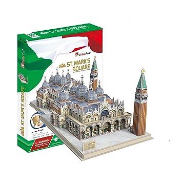CubicFun Toyland - Maqueta de la Plaza San Marco de Venecia, puzle en 3D,