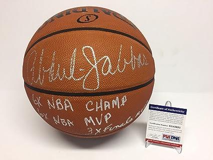Kareem Abdul-Jabbar Signed Spalding Official Game Basketball quot NBA  Champ MVP quot  - eef6e5528