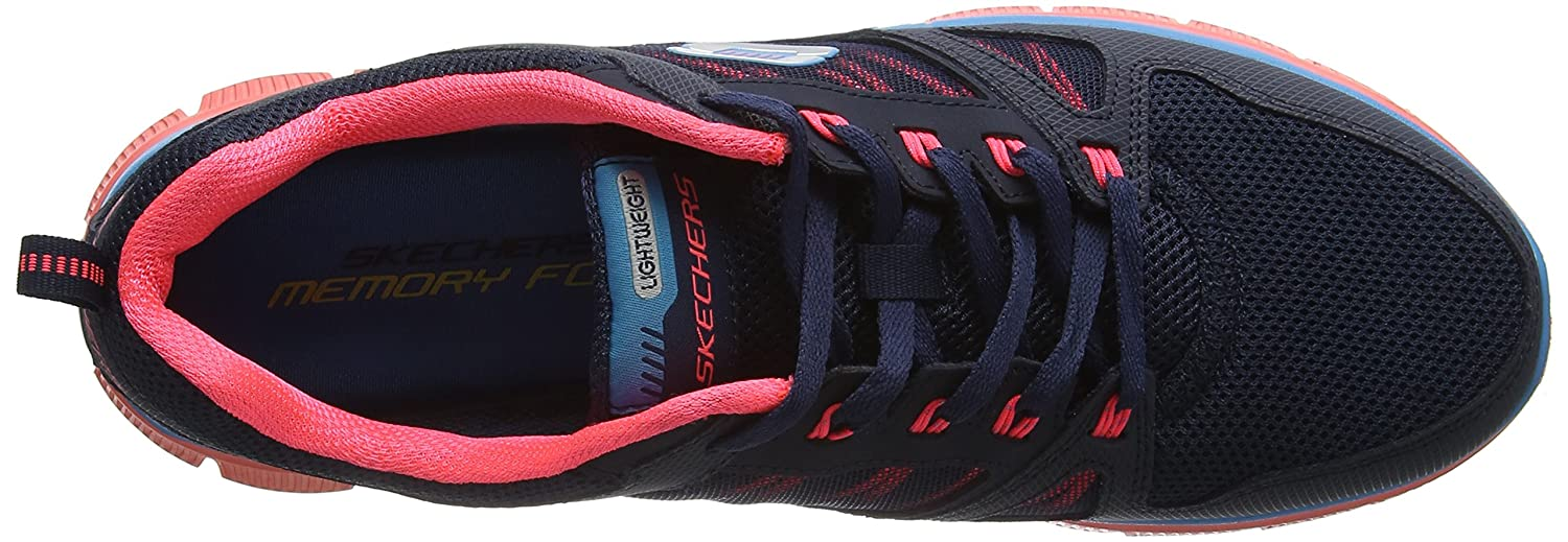 a037cd1e0505d Skechers Womens Flex Appeal Spring Fever Trainers Black(yellow) Size  36   Amazon.co.uk  Shoes   Bags