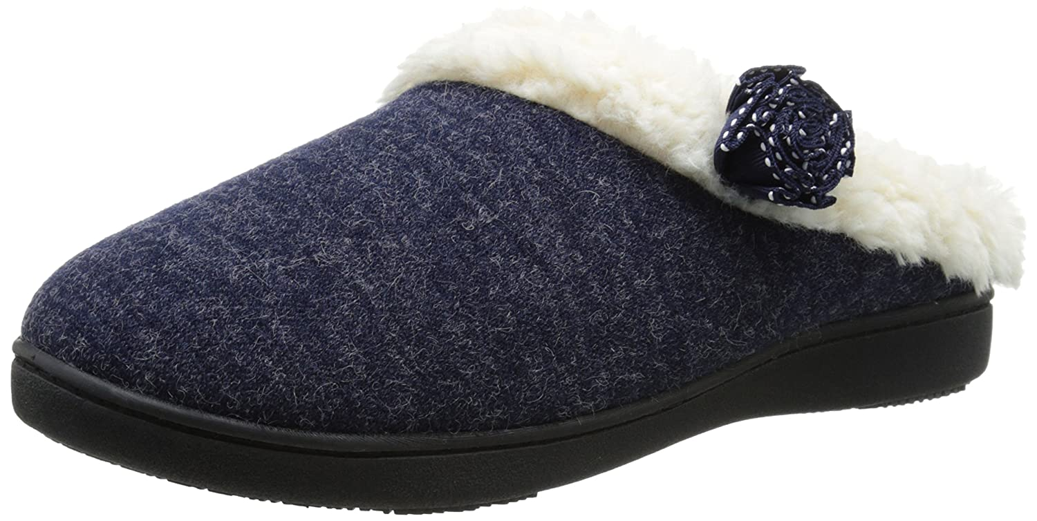 ISOTONER Women's Brushed Jersey Sknit Milly Flat B00Y5PXHTM 8.5-9 M US|Navy Blue