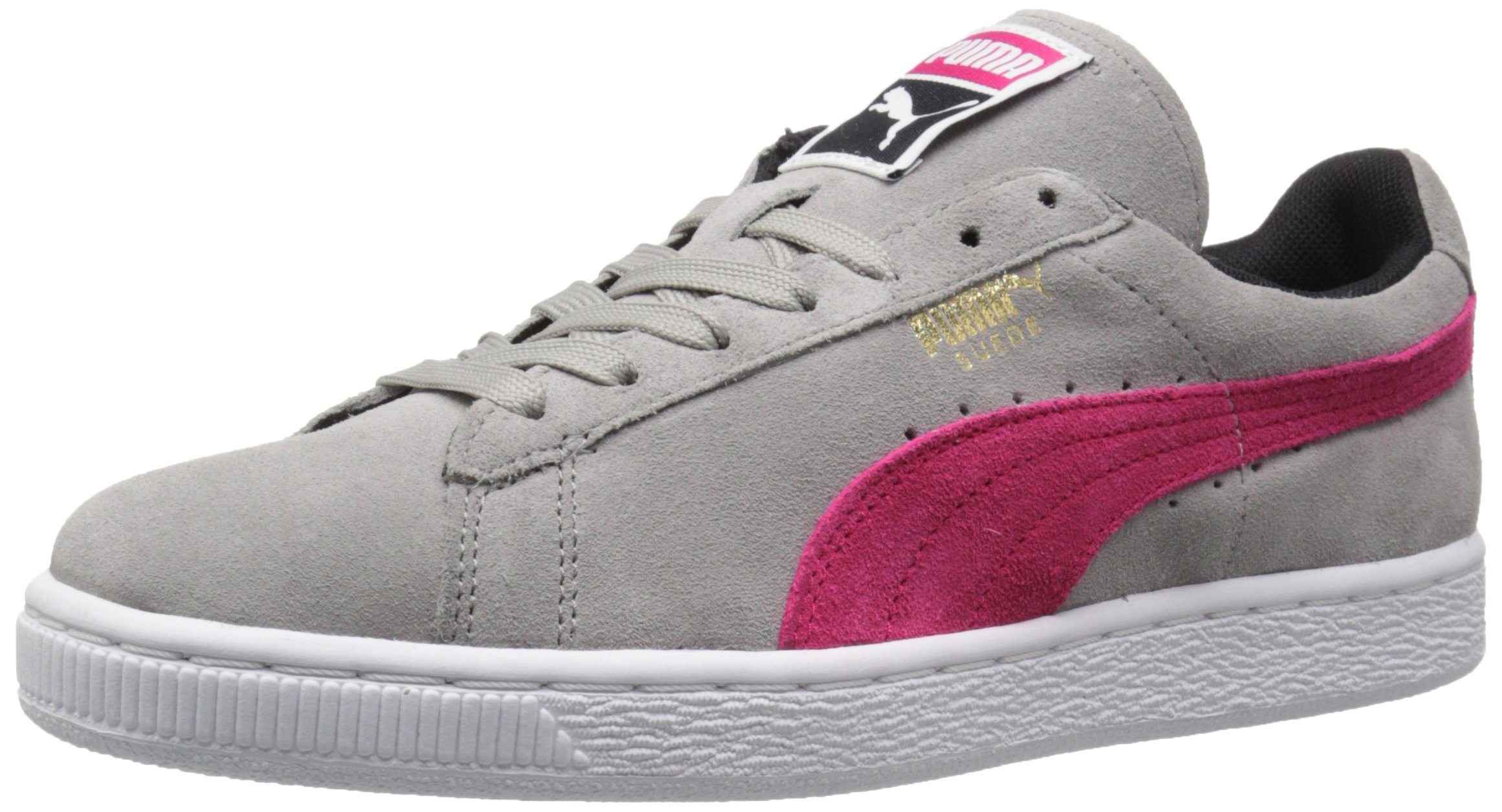 PUMA Women's Suede Classic WN'S Classic Style Sneaker,Drizzle/Rose Red/Black,5.5 B US
