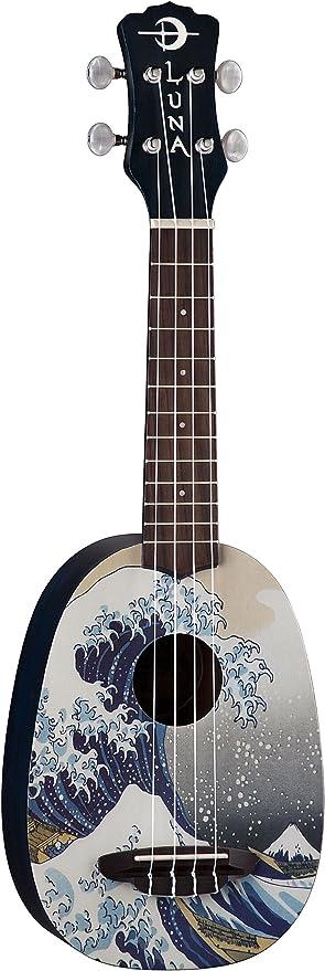 Ukulele concerto con custodia Luna Guitars Great Wave