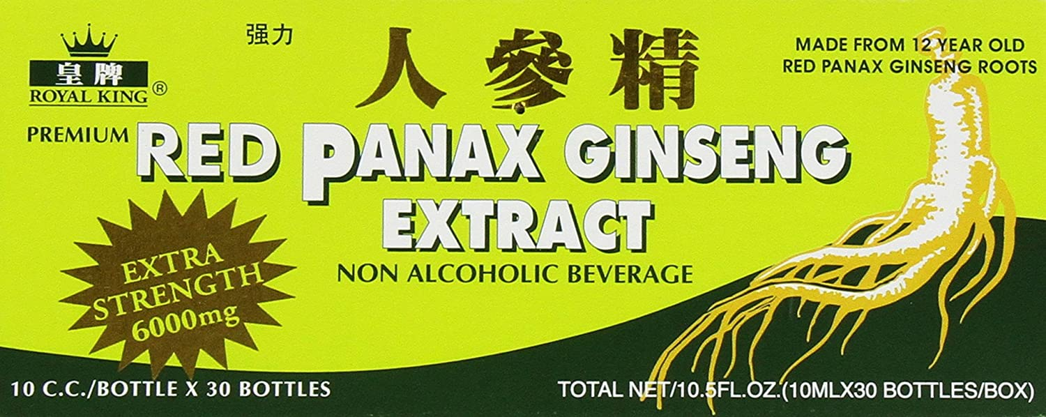 RED PANAX GINSENG EXTRACT 30 BOTTLES Pack of 6
