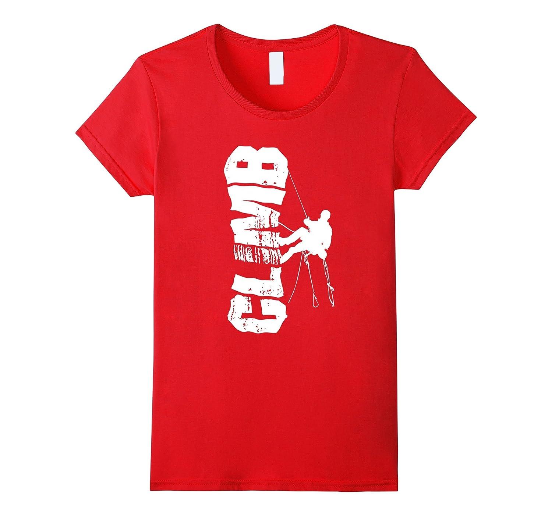 Cool Grunge Style Graphic Design Rock Climbing T-shirt