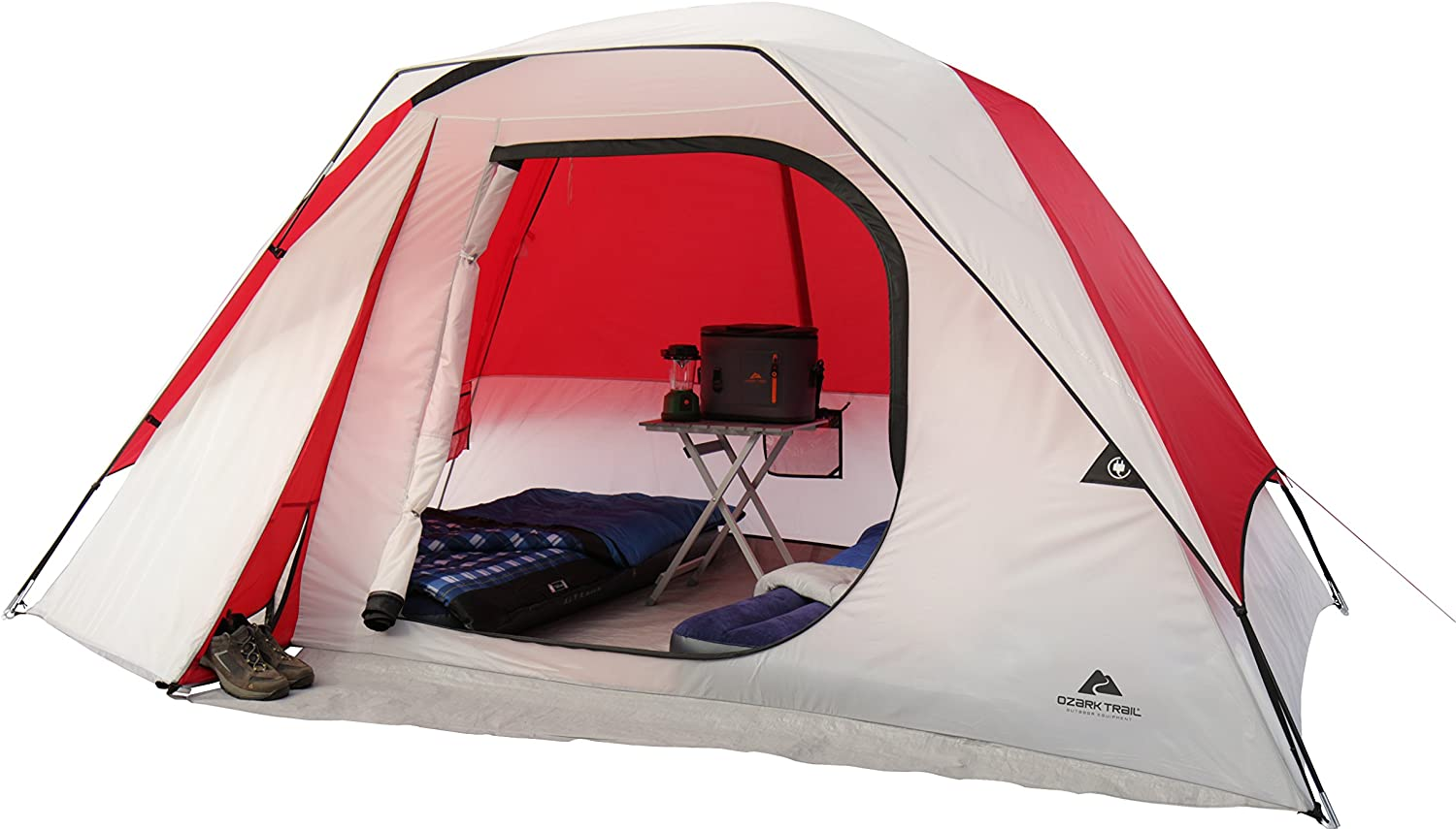 Ozark Trail Family Cabin Tent (WhiteRed, 6 Person): Amazon