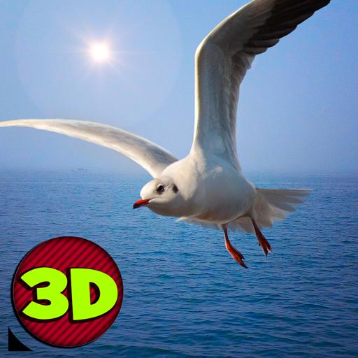Seagull Simulator 3D: Sea Animal Games   Fly Bird Wild Bird Simulator Survival Island World Of Animals Sim