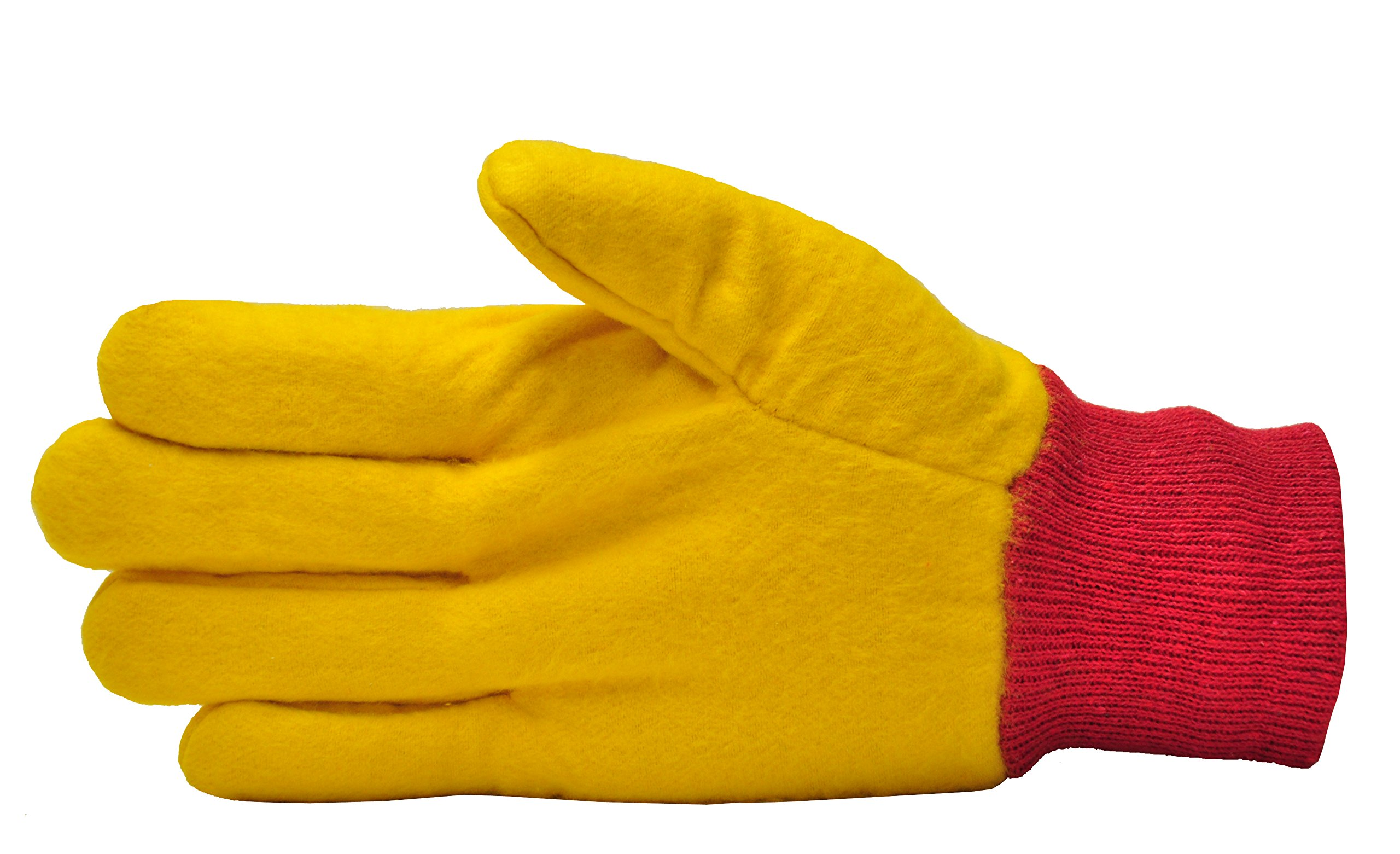 GF Gloves 5414-144 Heavyweight Chore Gloves, Double Layer, Large, Yellow (Pack of 144)