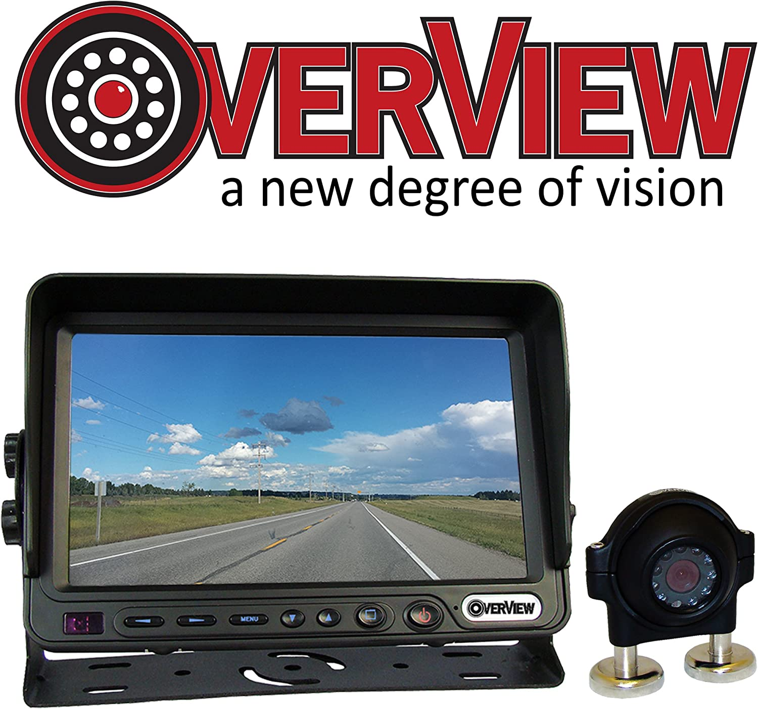 OverView 7in Single Camera Kit Rearview System Perfect for Tractors and Construction Equipment Trailers Campers Cattle