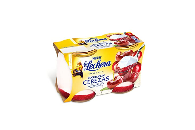 La Lechera, Yogur de sabor (Mermelada de cerezas) - 2 de 125 ml
