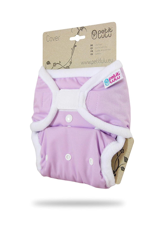 Stoffwindeln Hergestellt in EU Lila One Size Windel/überhose Waschbar /& Wasserdicht 4-15 kg | Klett Baby Regenbogen Windelhose Petit Lulu Gr/ö/ße 2 PUL /Überhose