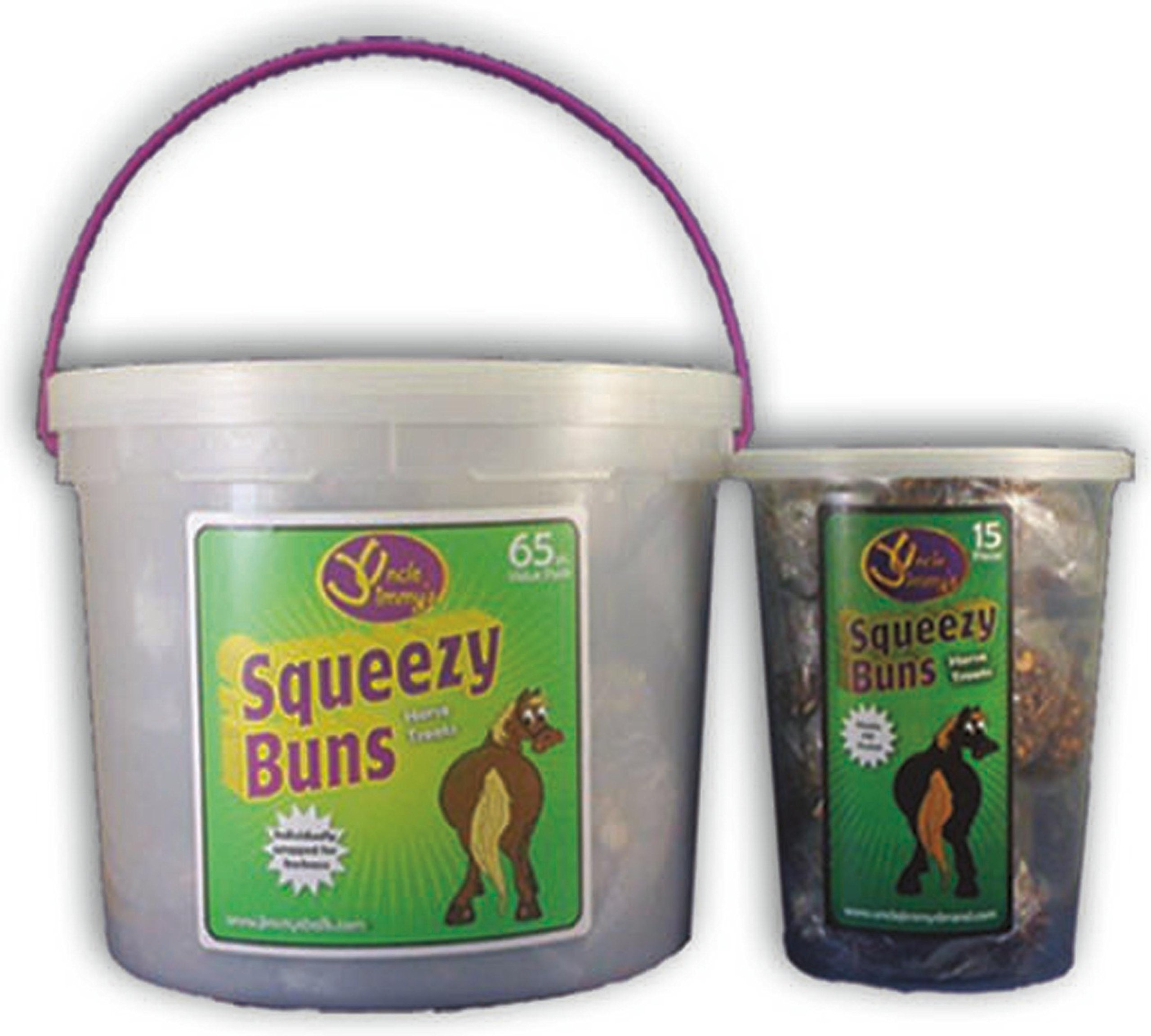 UNCLE JIMMYS BRAND PR LLC Squeezy Buns Treats for Horses Molasses 3 Pound