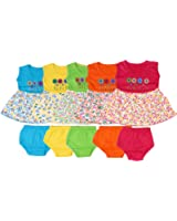 Feel Trendy Cotton Frock for Baby Girls(Pack of 5)