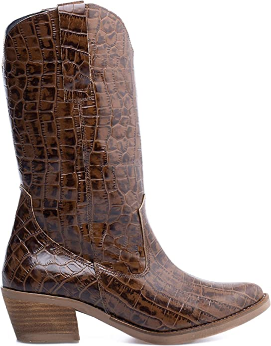 Zapatos miMaO. Zapatos Piel Mujer Hechos EN ESPAÑA. Botas Cowboy Estampado Cocodrilo. Botas Camperas Tacón Cómodas con Plantilla Confort Gel: Amazon.es: Zapatos y complementos