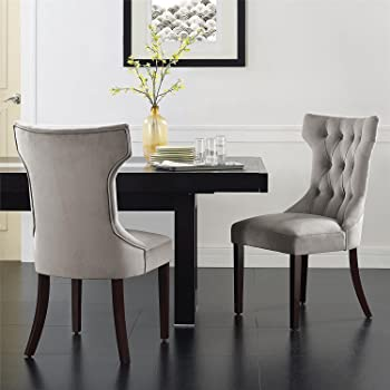 2-Pack Dorel Living Clairborne Tufted Dining Chair