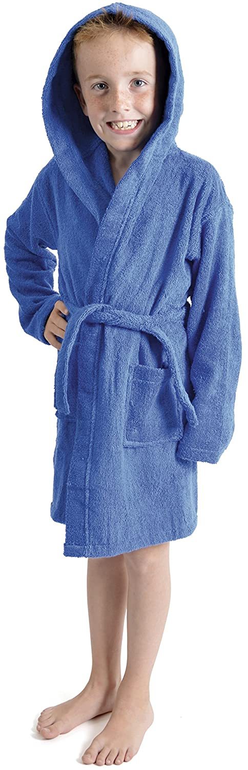 Tom Franks Boys Hooded Towelling Robe Dressing Gown