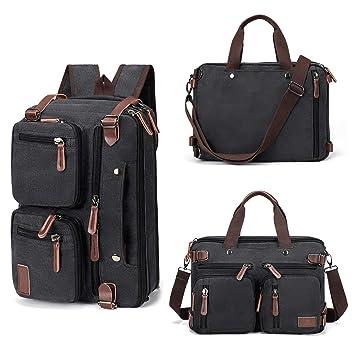 Fresion Business Aktentasche Arbeitstasche Rucksack Canvas Schultasche Herren Damen Notebook rucksäcke Wandelbate Tasche Lehrertasche,