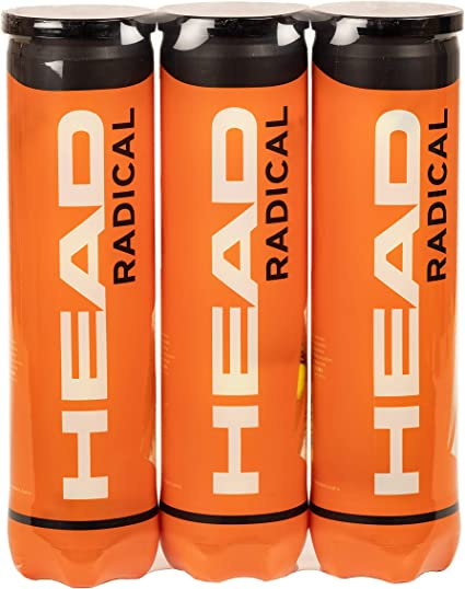 HEAD Radical - Pelota de tenis, color amarillo (Paquete triple ...