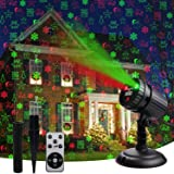 Christmas Laser Lights,Led Decorative Projector 8 Patterns Snow Santa Plug in Night Lights for Indoor Outdoor Xmas…