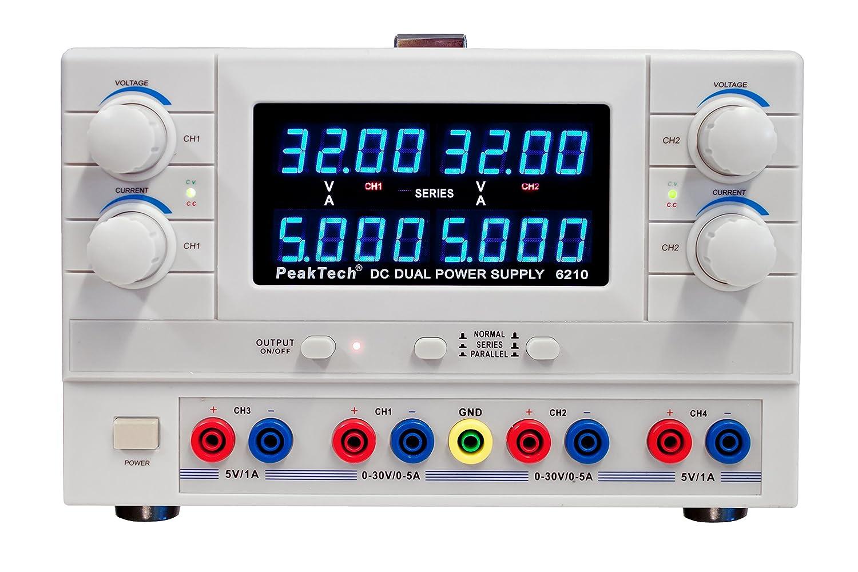 /30/V//5/A DC/ Peak Tech 2/canales Linear DC fuente de alimentaci/ón de laboratorio de modulaci/ón de dispositivo/ /2/x 0/ /5/V//1/A fijo Voltaje con transformador de s