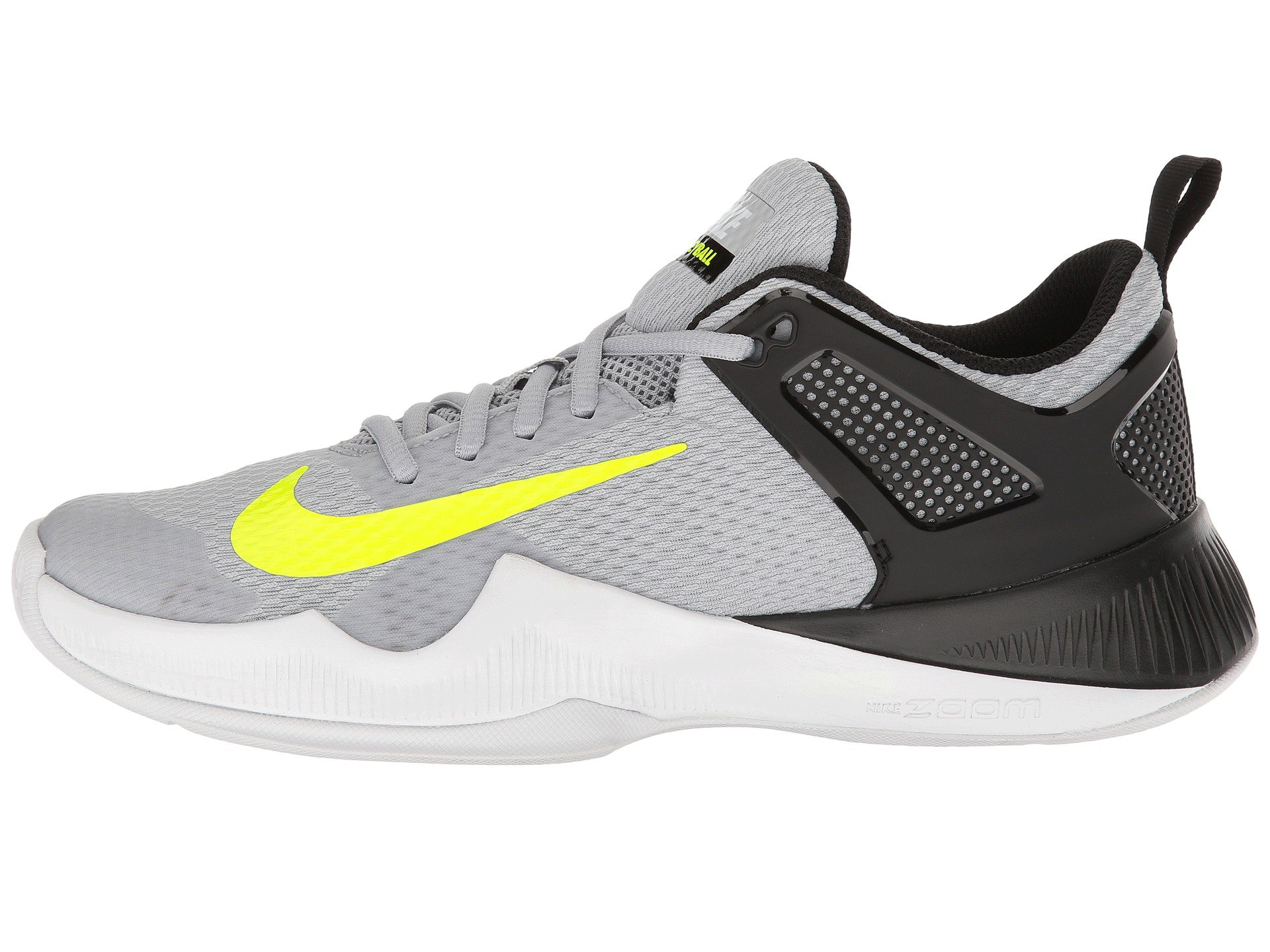 NIKE Womens Air Zoom Hyperace Shoe, Wolf Grey/Volt-Black, 11 B(M) US