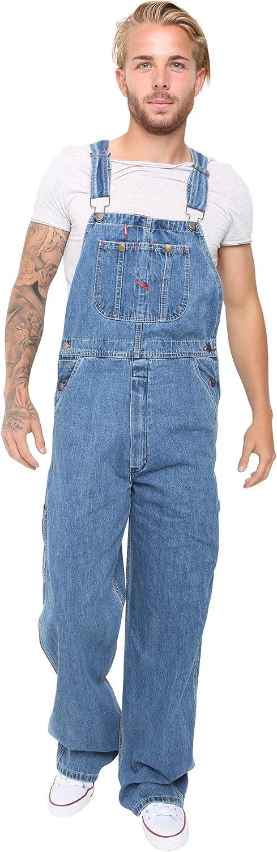 SKYLINEWEARS Mens Denim Dungarees Jeans Bib and Brace Overall Pro Heavy Duty Workwear Pants