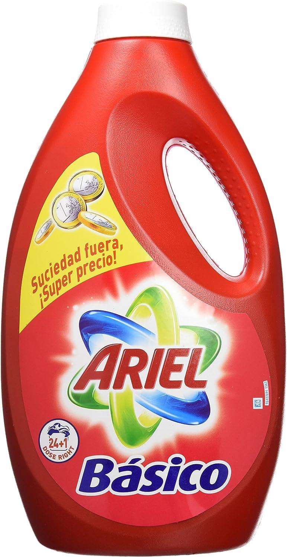Ariel Básico Detergente Líquido para Lavadora - 1625 ml: Amazon.es ...