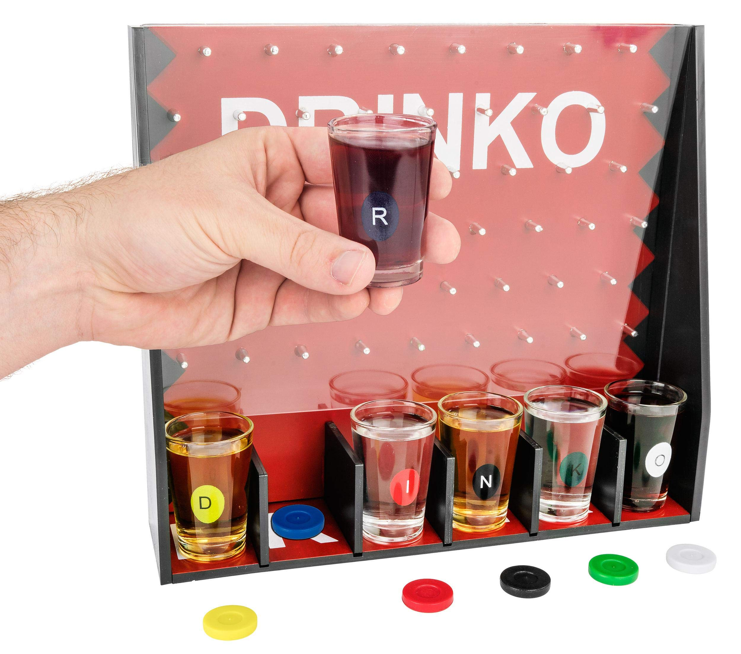 DRINKO Drinking Game - Fairly Odd Novelties - Fun Social Shot Glass Party Game for Groups / Couples by Fairly Odd Novelties (Image #2)
