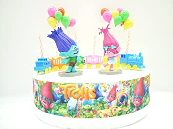 OSK Trolls POPPY & BRANCH Birthday Cake Decoration Set
