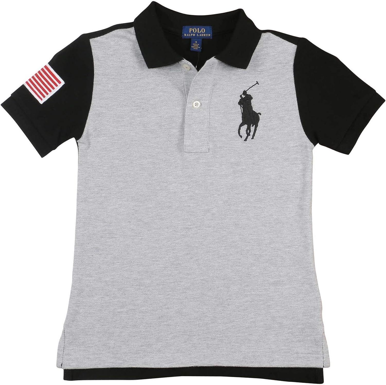 Polo Ralph Lauren Boys Big Kids Big Pony USA Polo para niños, gris ...