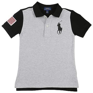 7eb2120cf86ca Image Unavailable. Image not available for. Color  Polo Ralph Lauren Boys  Big Kids Big Pony USA Polo Shirt ...