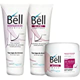 B2C Hairbell Set/Masque 500 ml + baume 250ml + shampooing 250 ml