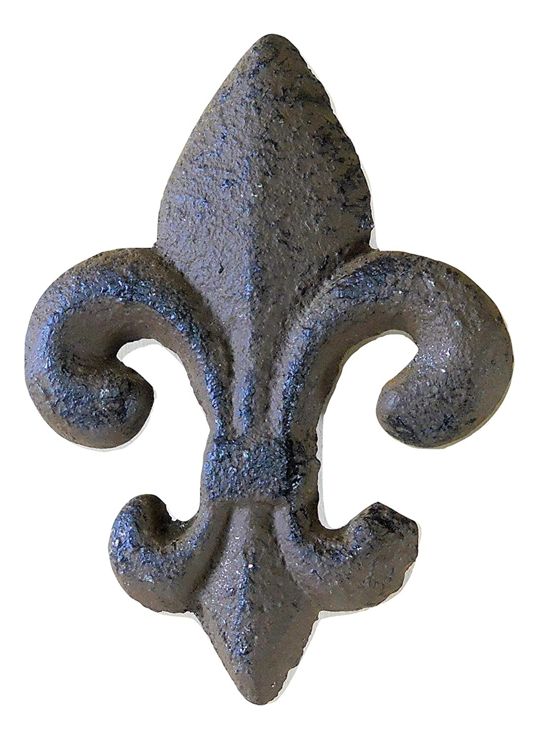 6 pc Cast Iron Fleur de Lys Knobs for Drawers and Cabinets