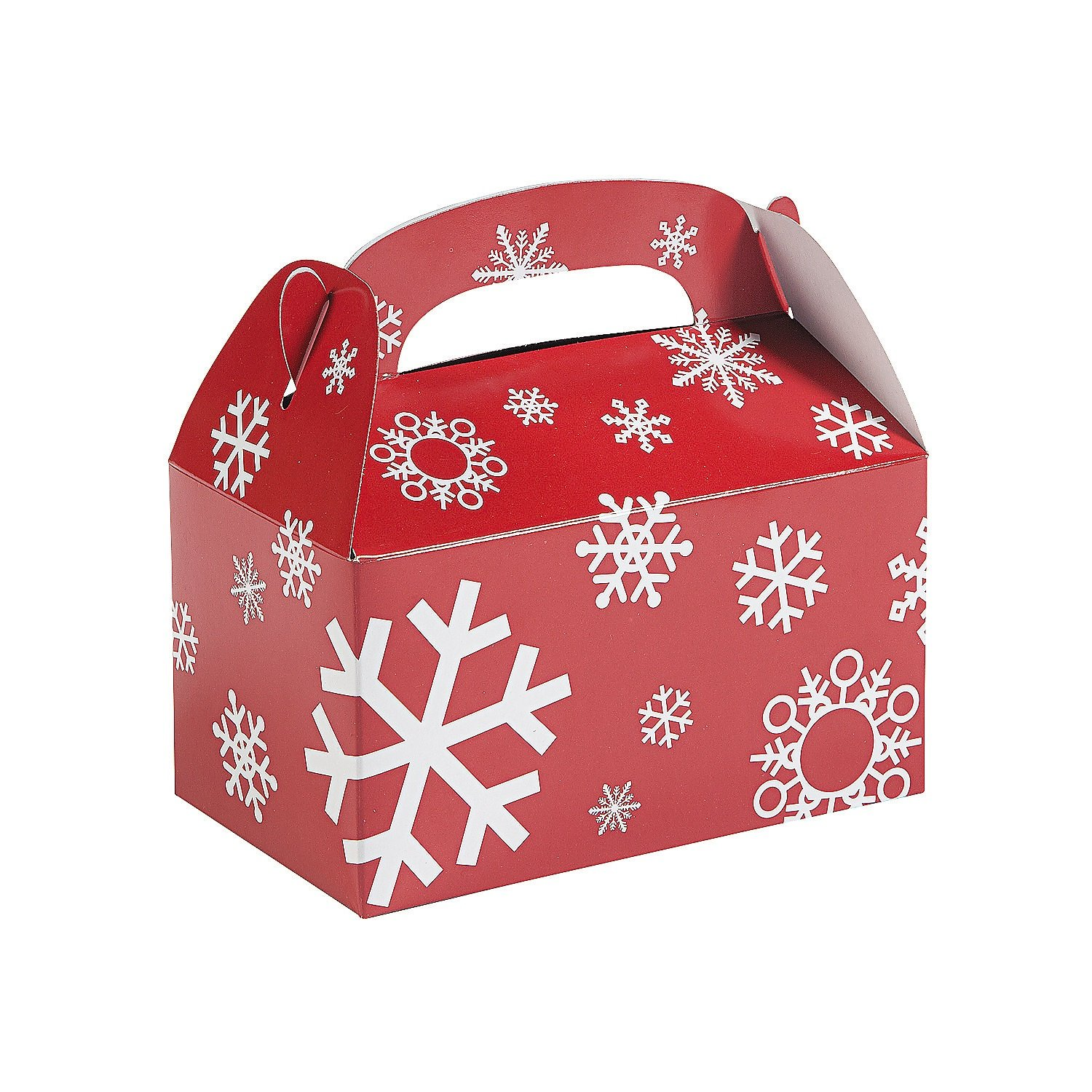 Amazon 3d christmas gift boxes with bow party favor goody paper red and white snowflake treat boxes 1 dozen christmas gift boxes negle Gallery