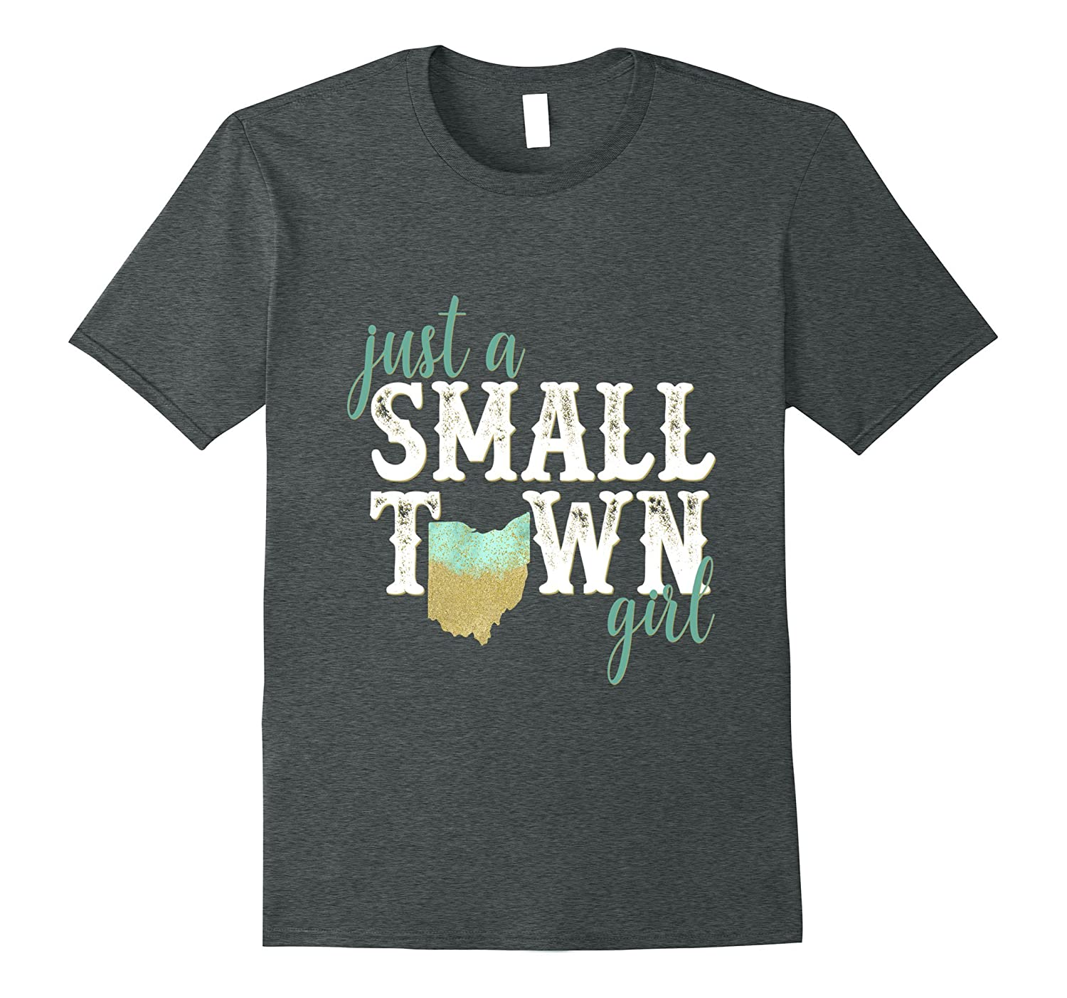 Ohio Small Town Girl Shirt Hometown State Roots Home-FL