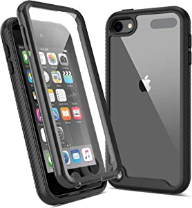 Imguardz Case for iPod Touch 7th/6th/5th Generation Case with Built-in Screen Protector, Heavy Duty Full Body Protection, Shockproof Hybrid Hard Shell Cover for iPod Touch 7/6/5(Latest Model), Black