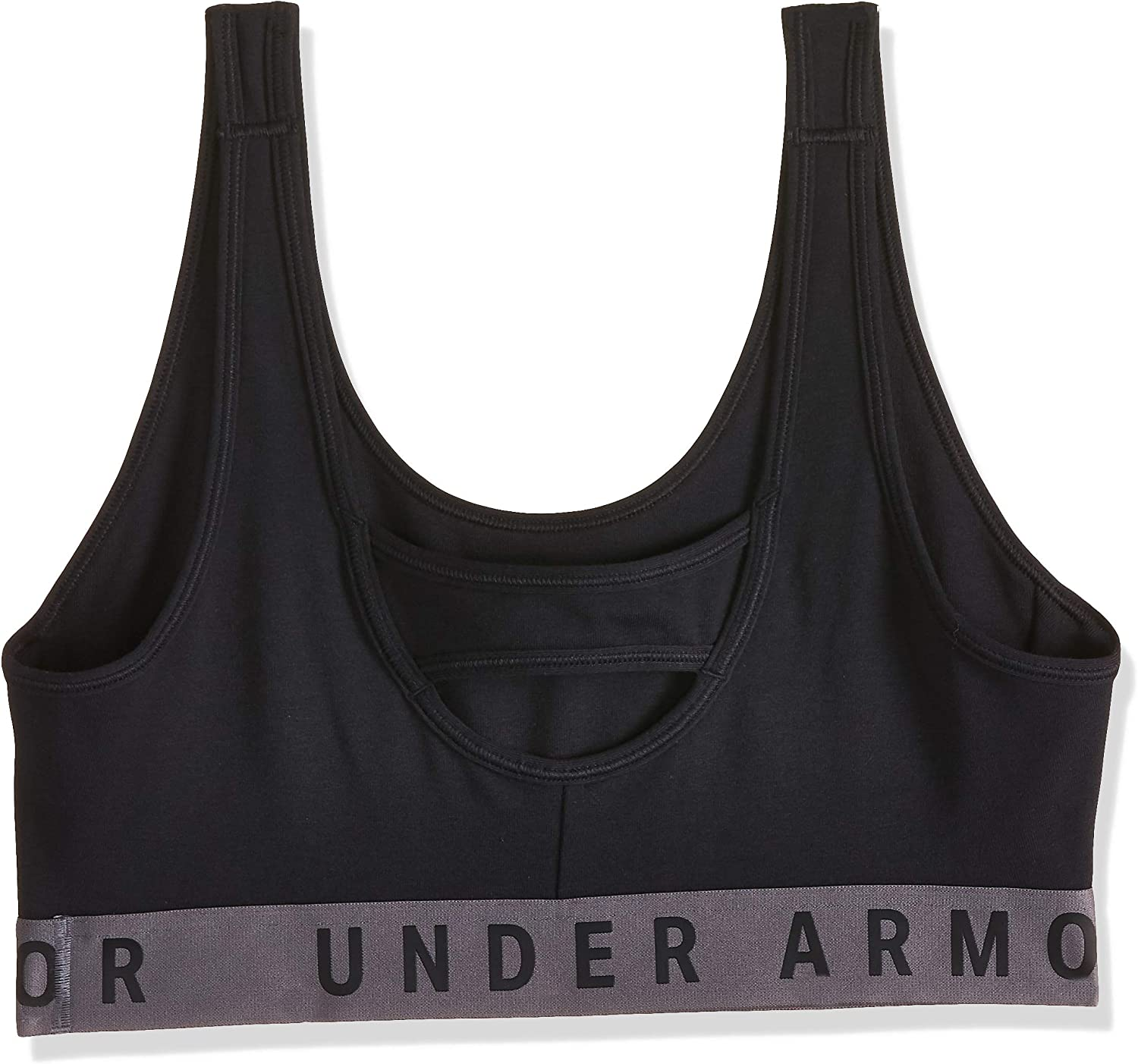 Under Armour UA Womens Favourite Everyday Low Impact Cotton Grey Gym Sports Bra