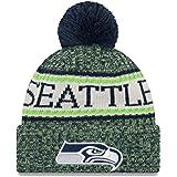 ニューエラ (New Era) NFL サイドライン 2018 ボブル ビーニー帽 シアトル・シーホークス (Seattle Seahawks)