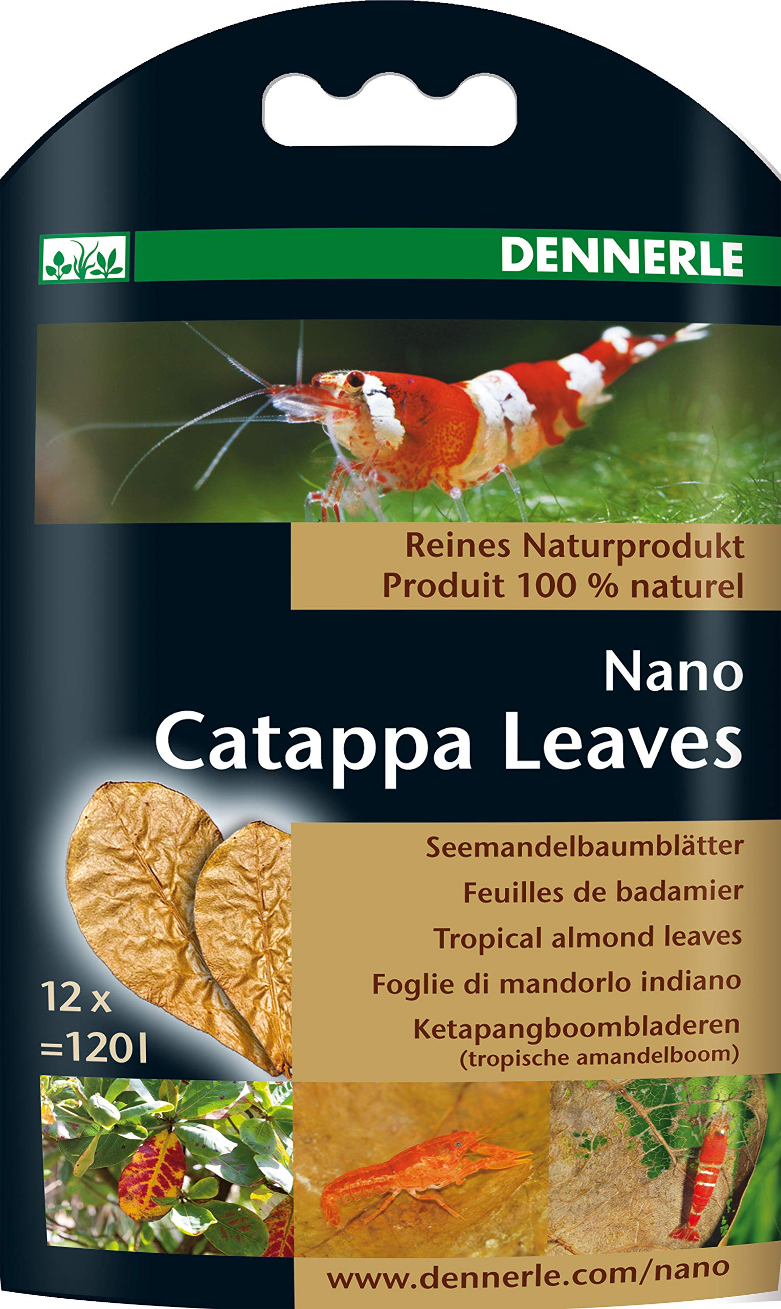 Dennerle Nano Catappa Leaves - 12 pcs, Brown (5916)