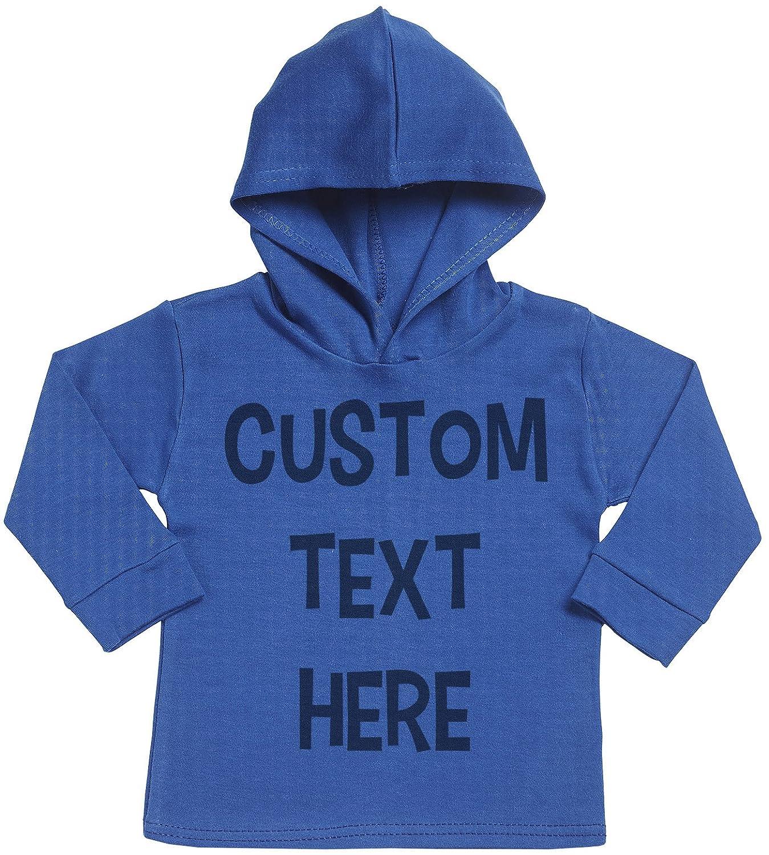 Spoilt Rotten Persönlicher Custom Text Here Baby Persönlicher Weicher Kapuzenpully Pullover - Individualisierter Baby Geschenkset - Persönlicher Babybekleidung srP13_H