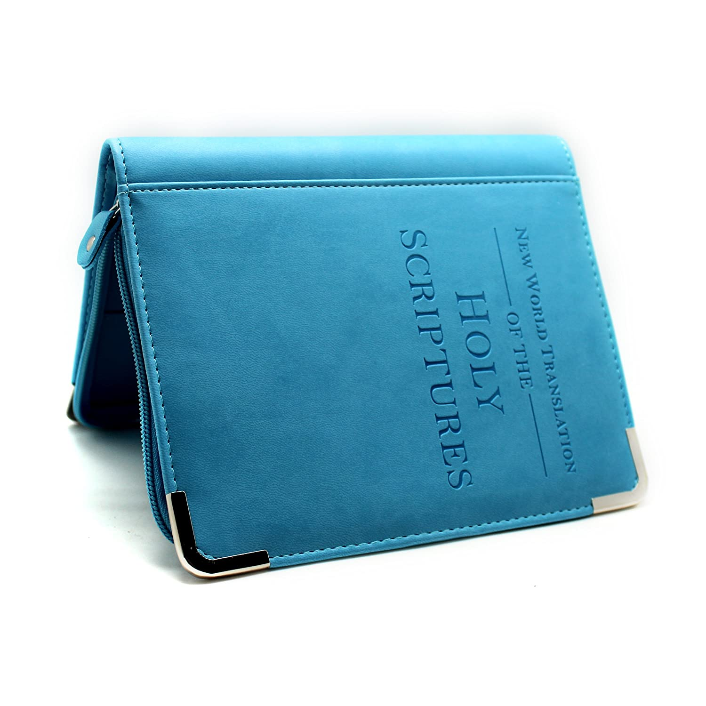 Boshiho Bibeletui, Bibelhülle, glatt, aus PU-Leder, Geschenkidee für Christen grau Bibelhülle BOSHIHO-Bible Cover-FN008