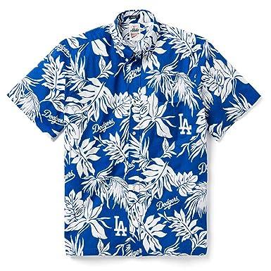 e50a548c Reyn Spooner Men's Los Angeles Dodgers MLB Classic Fit Hawaiian Shirt, Aloha  2019, Small
